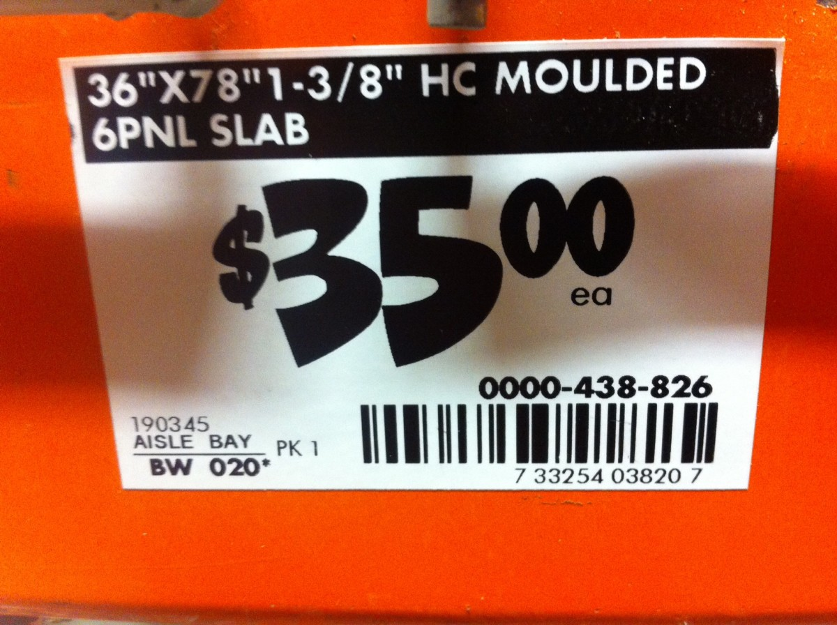 A regular price sign.