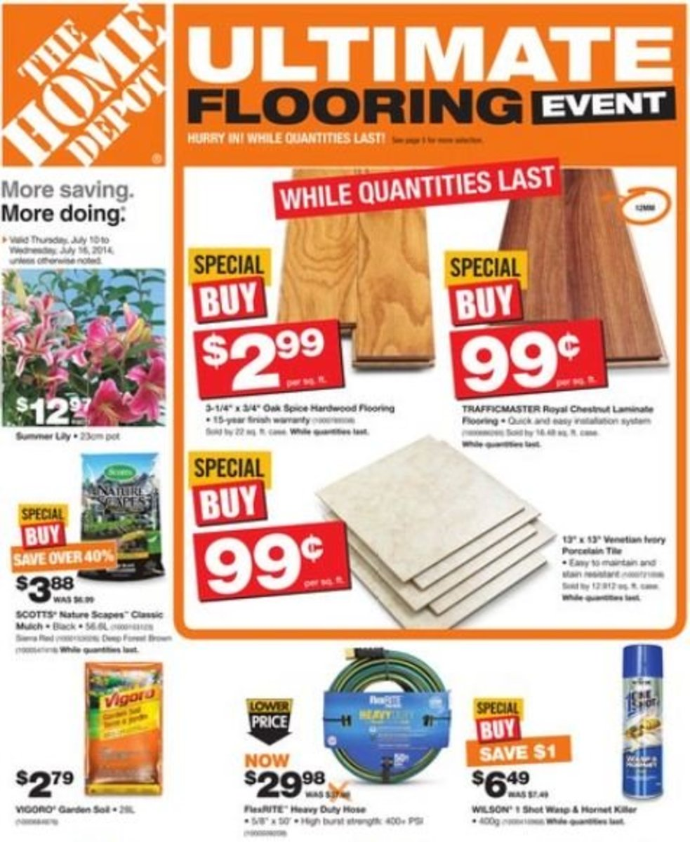 Weekly flyer from Home Depot