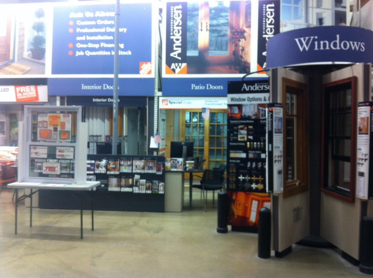 Millwork desk in a Philadelphia Home Depot store.