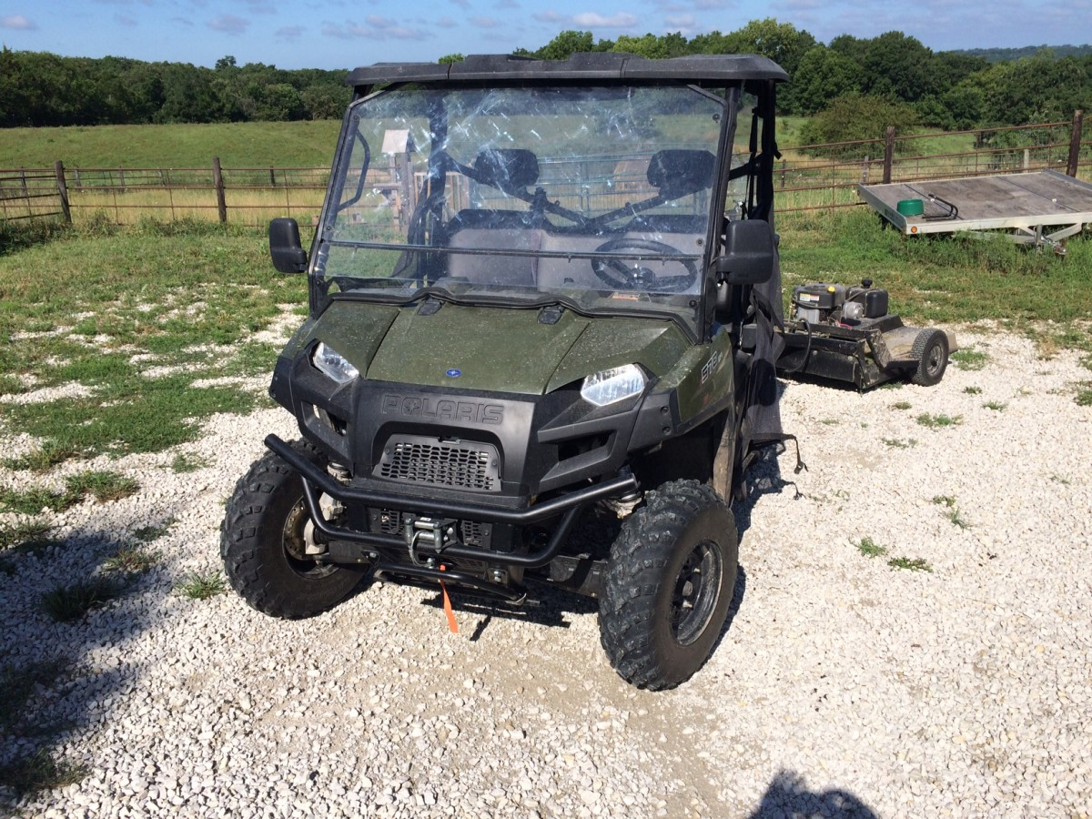 This implement can be pulled by any UTV or ATV.