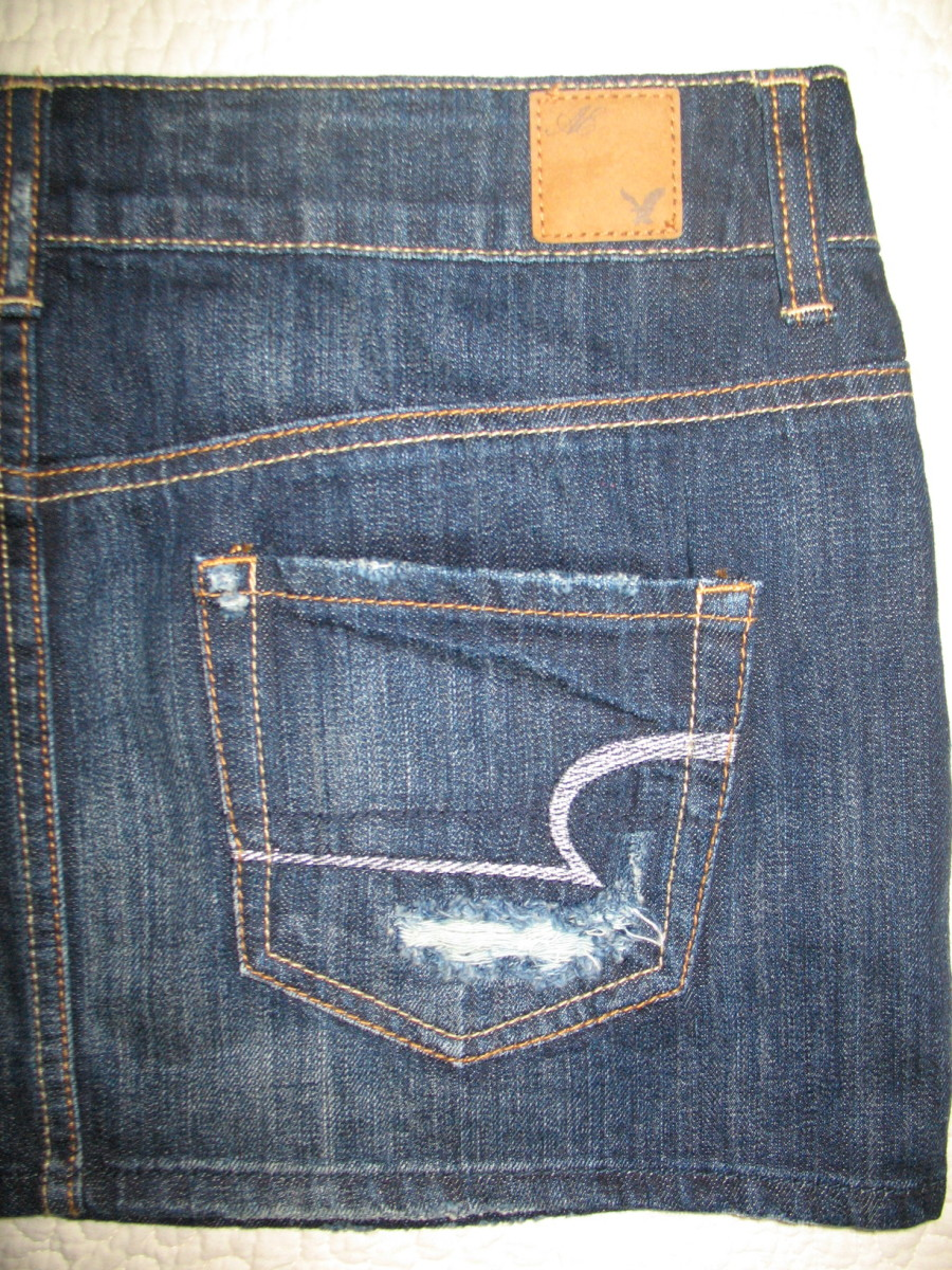 Sell jean skirts on eBay for quick money.  My favorite brands are Hollister and American Eagle.