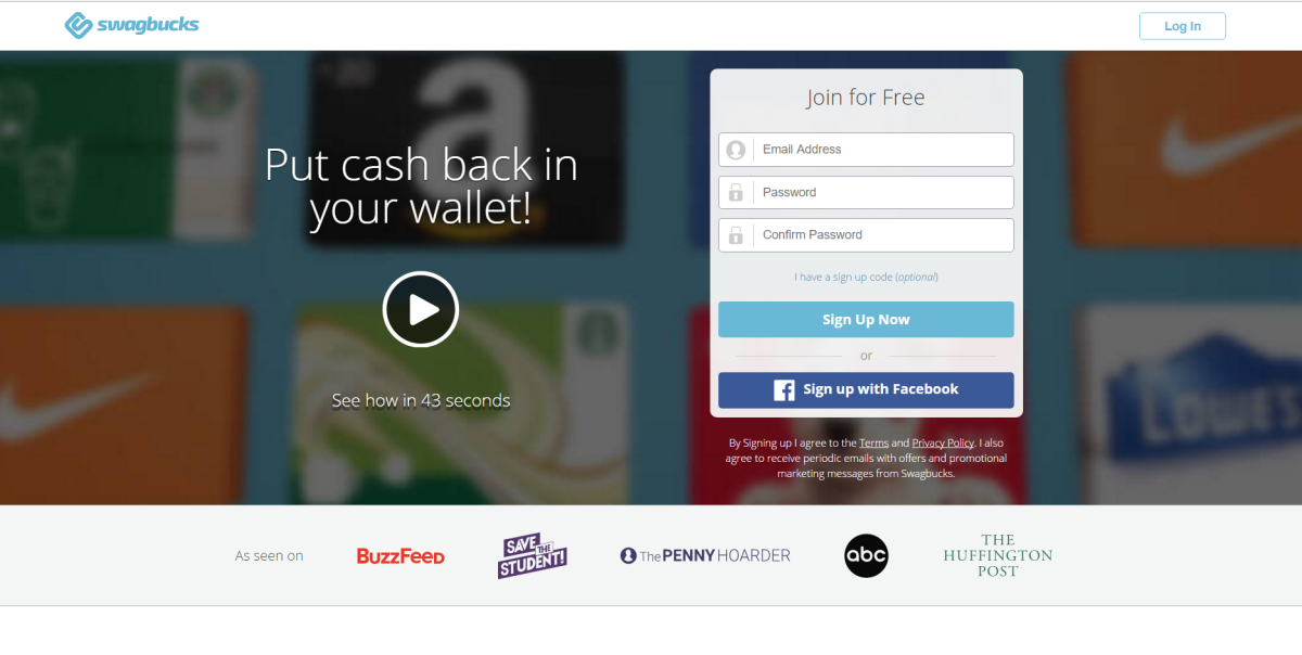 The notorious Swagbucks website.