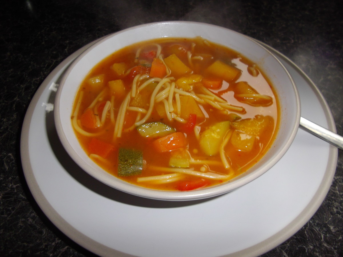 Minestroni style soup.