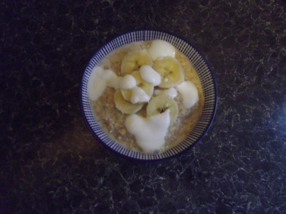 Porridge with banana