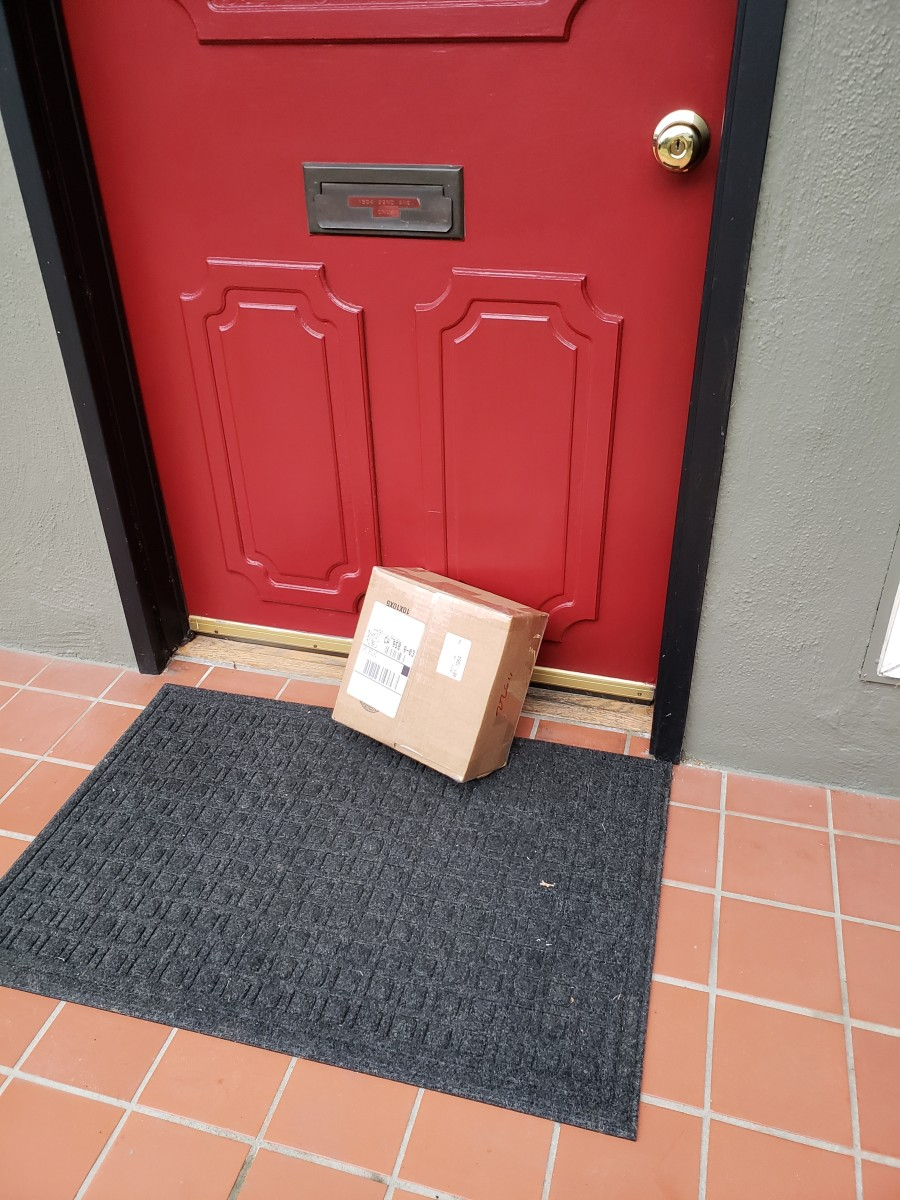 Make sure you sign up for delivery alerts. That way, you have an estimated time for delivery and receive an alert the moment the parcel arrives at the door.