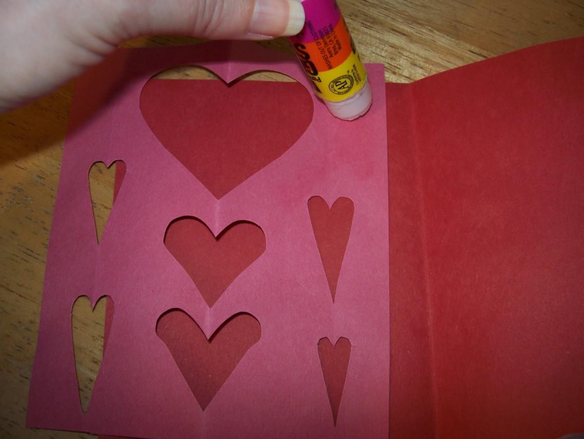 Glue them inside your cards.
