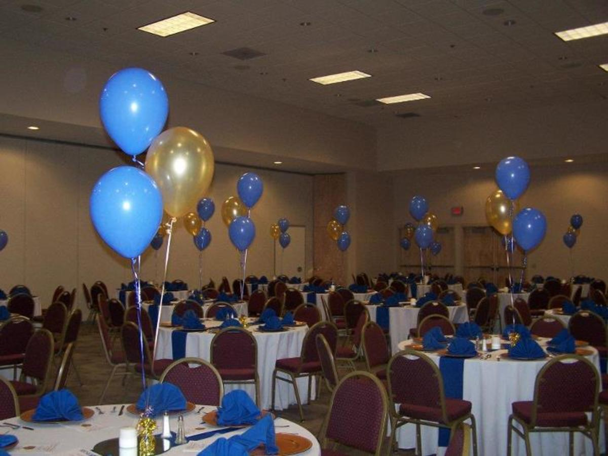 Helium Balloons as Party Decorations