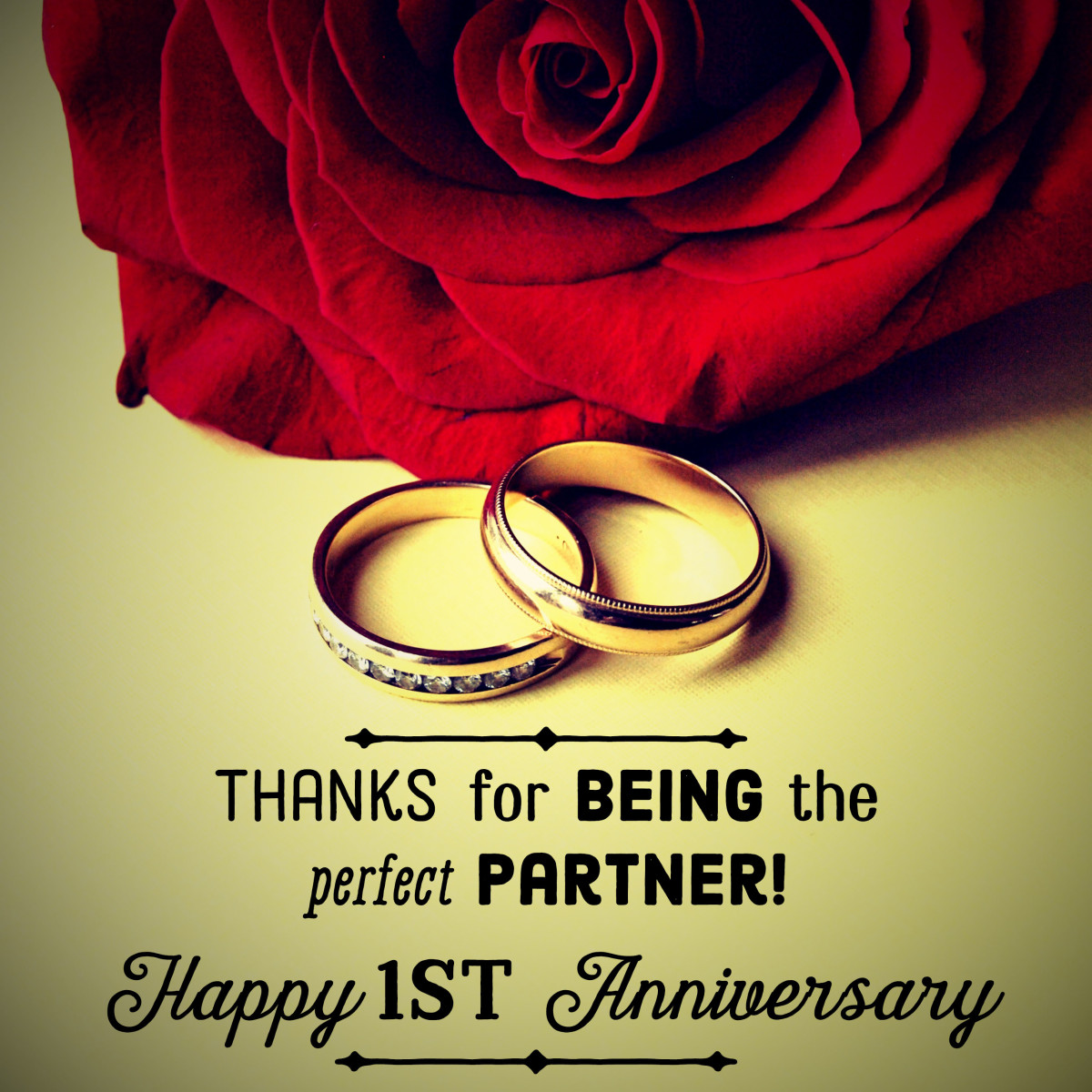 One Year Marriage Anniversary Message Thanks For Being The Perfect Partner