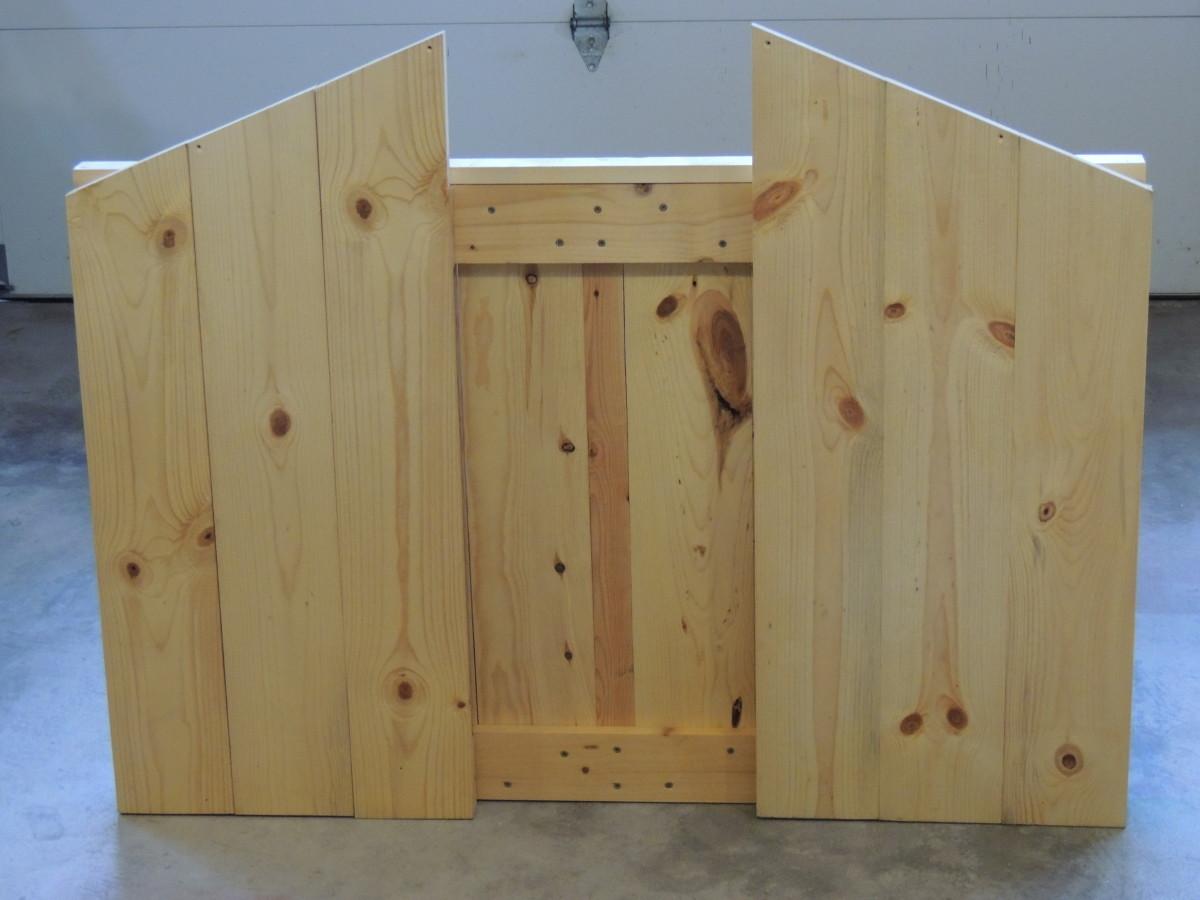 Folded up manger back and sides