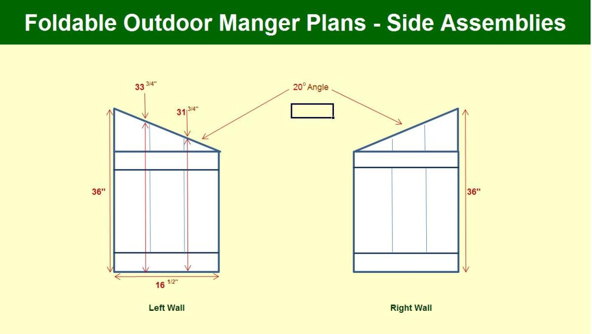 Manger Side Assembly Plans