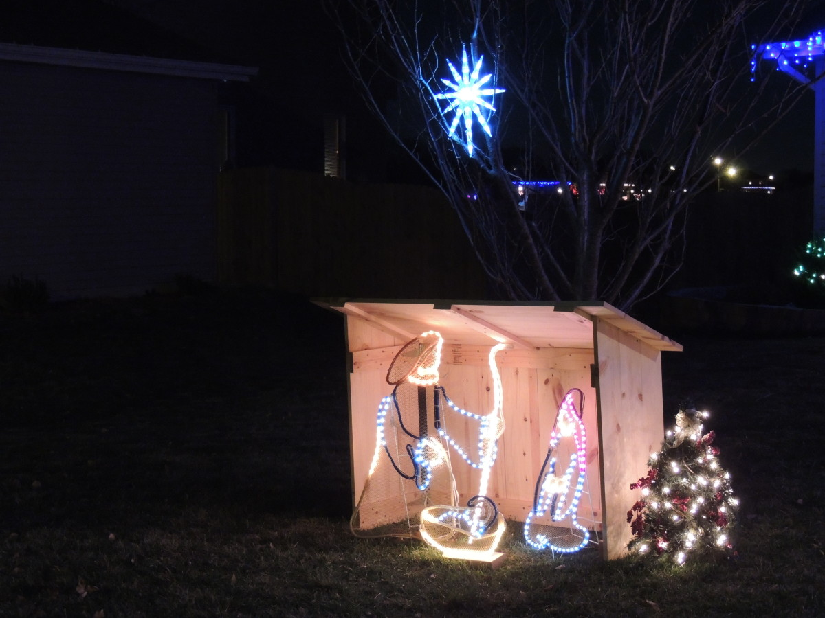 Manger display in front of my house