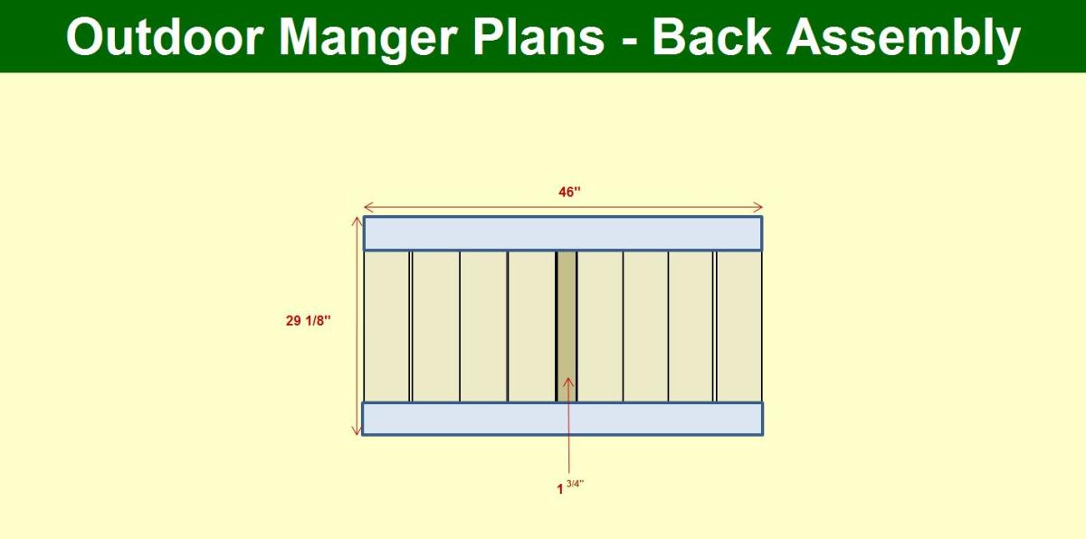 Manger Back Assembly Plans