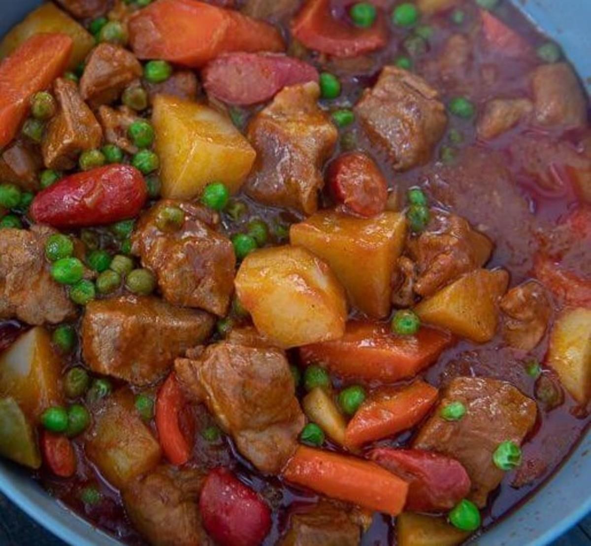 Pork Afritada (Filipino Pork Stew)