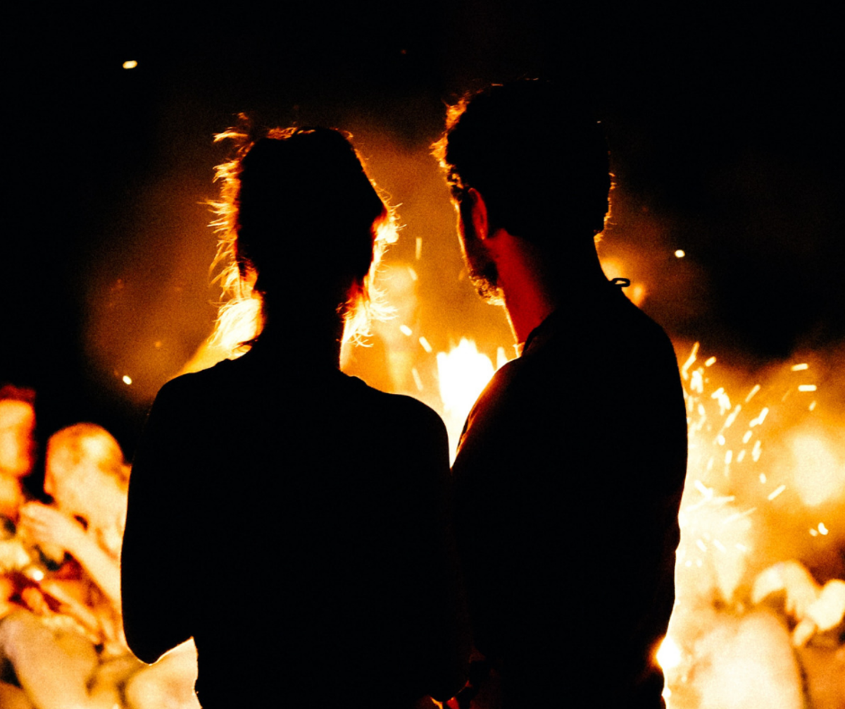 An Aries relationship is filled with fiery passion.