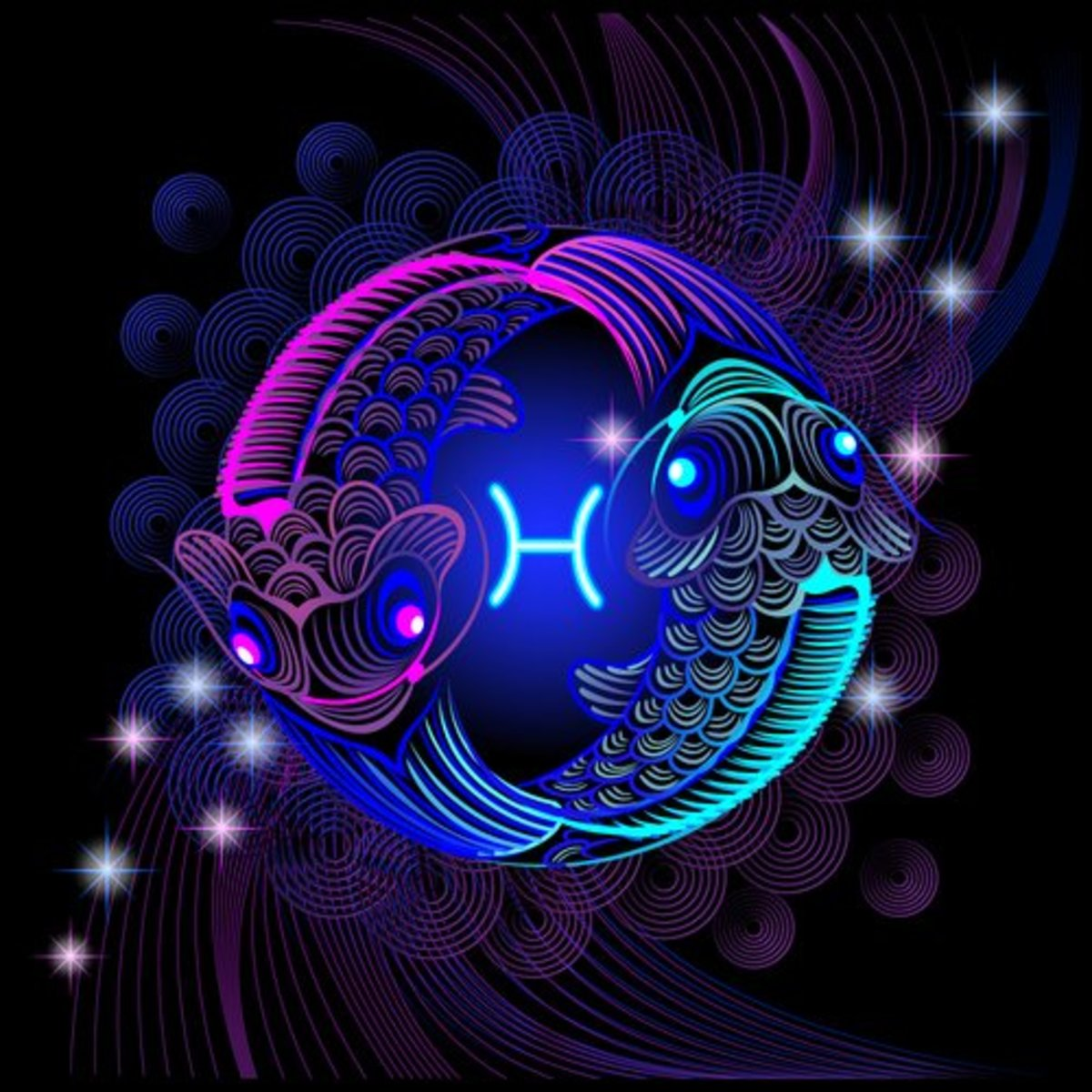 Pisces rides a cosmic wave infused with psychic abilities.
