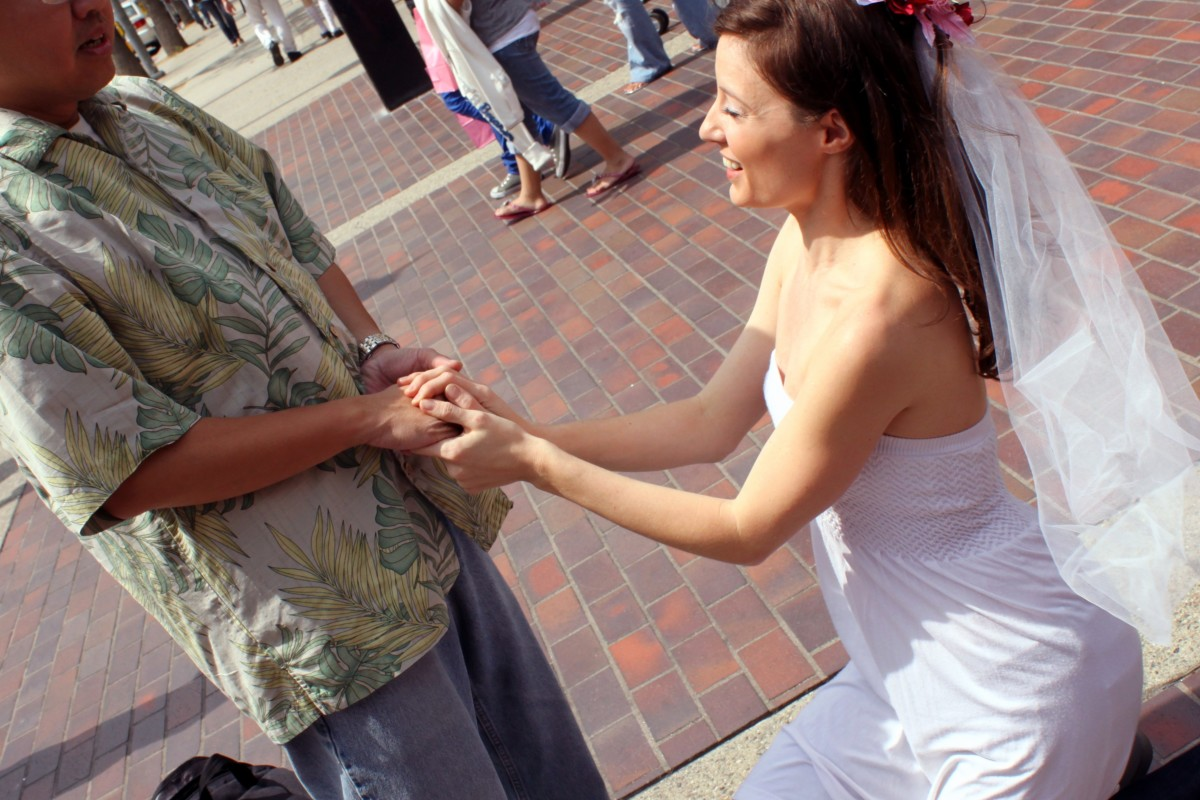 This man gets a surprise proposal.