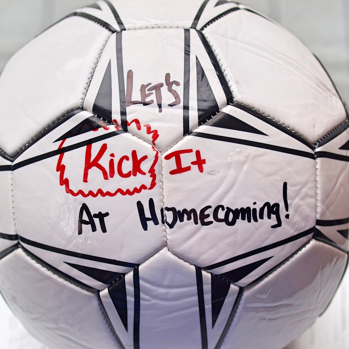 You're sure to score a homecoming date with this fun proposal for a soccer fan.