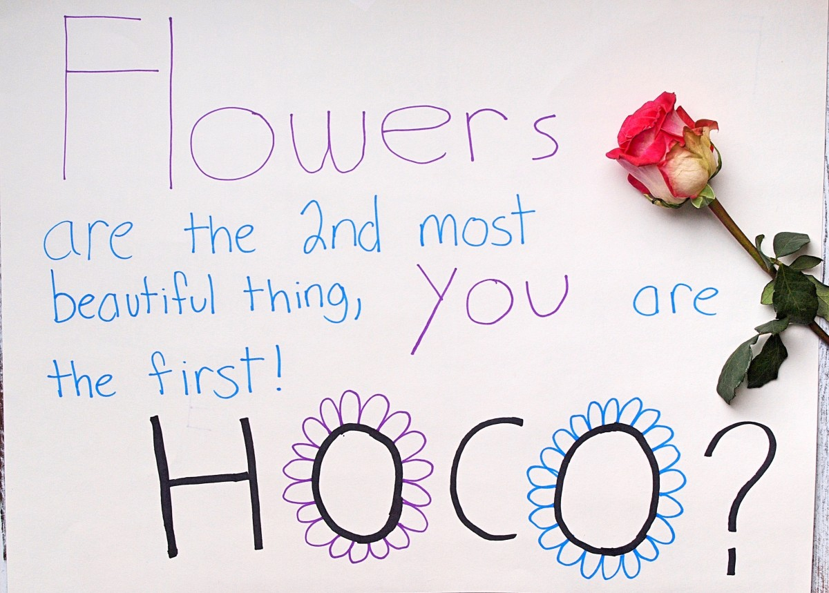 It's hard to go wrong with flowers when you ask your crush to the big dance!