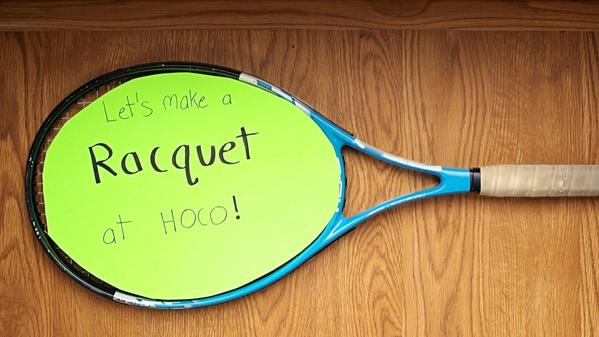 Asking a tennis player to the big homecoming dance?  Here's the perfect way to ask!