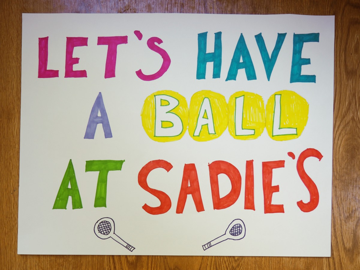 Tennis is just one of the themes in this list of 60+ Sadie Hawkins proposals.