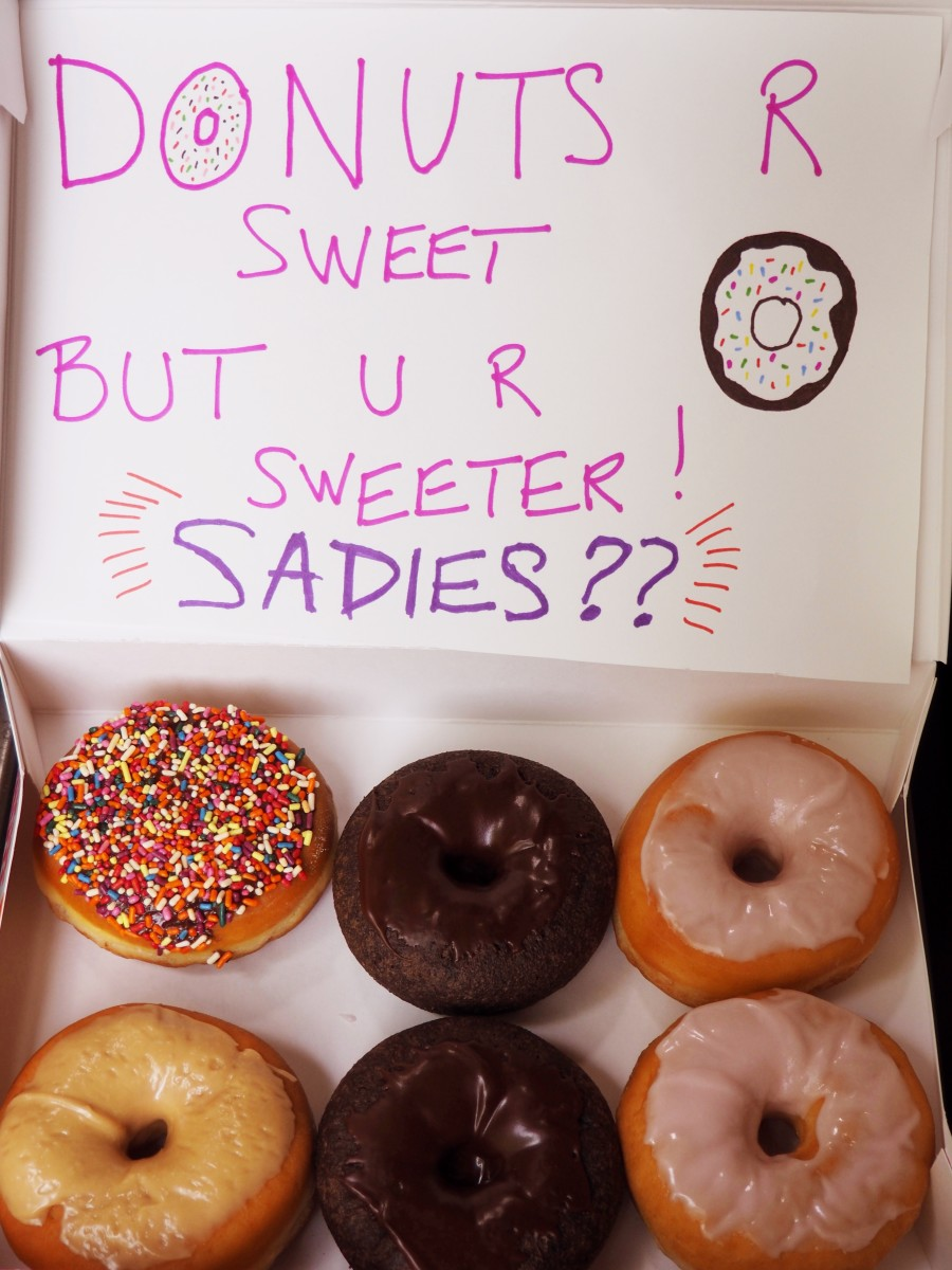 Who can say no to a Sadie's proposal with donuts?!