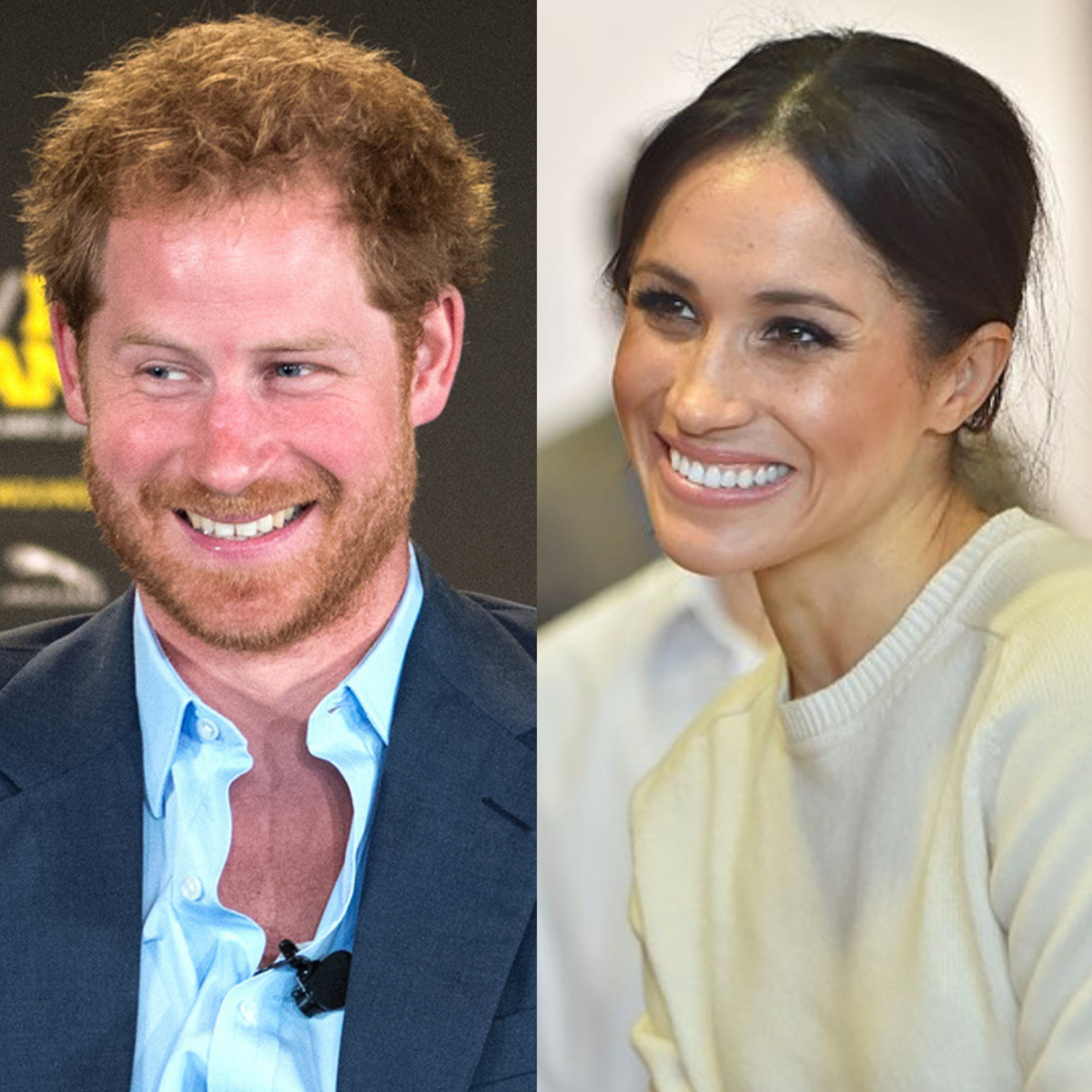 Prince Harry and Meghan Markle have similar features.
