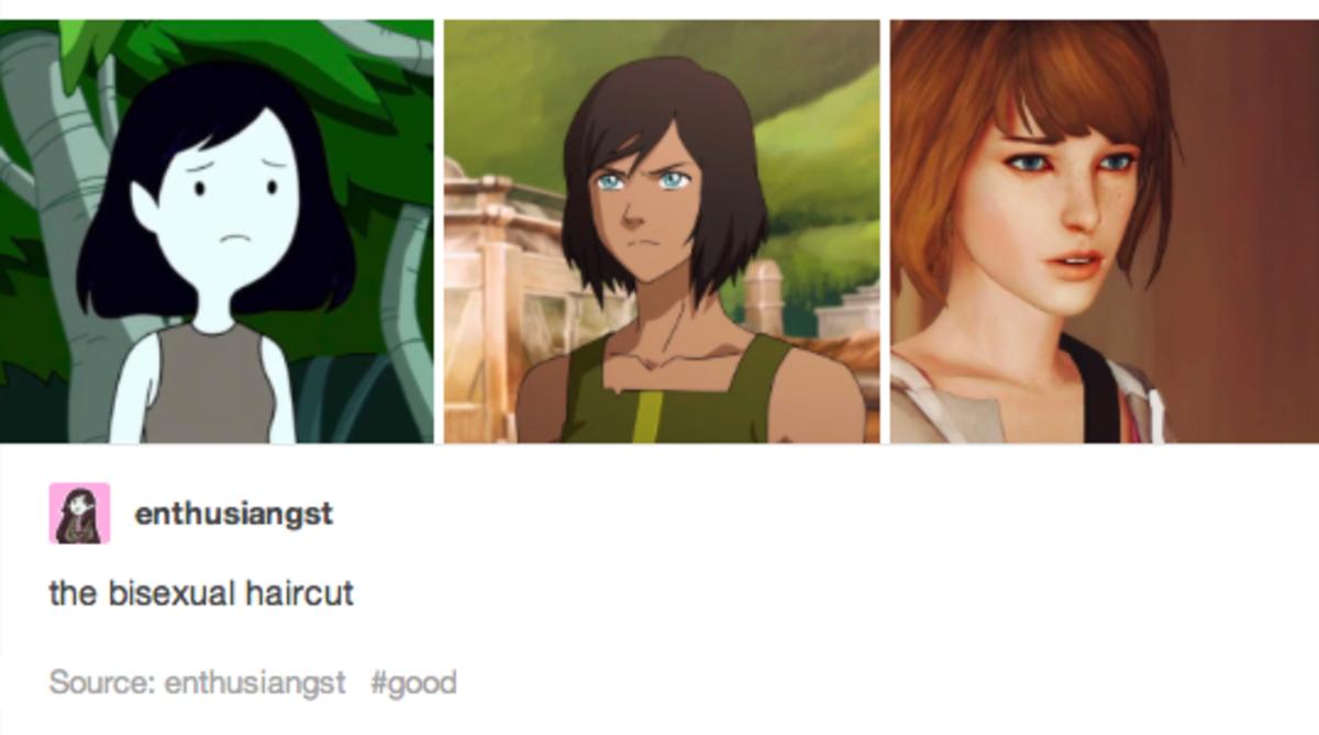"The original ""bisexual haircut"" post on Tumblr."