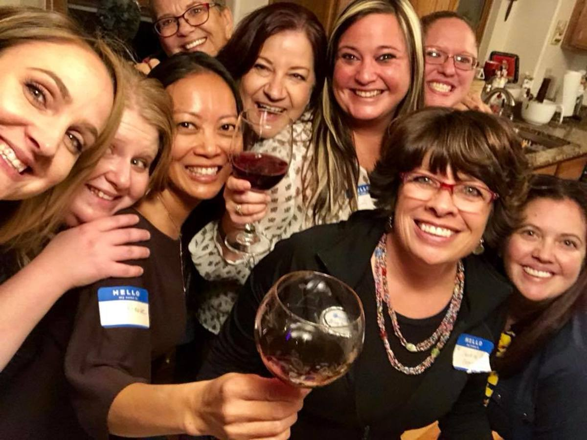 This is an actual photo of my first Ladies Happy Hour with some of my neighbors.
