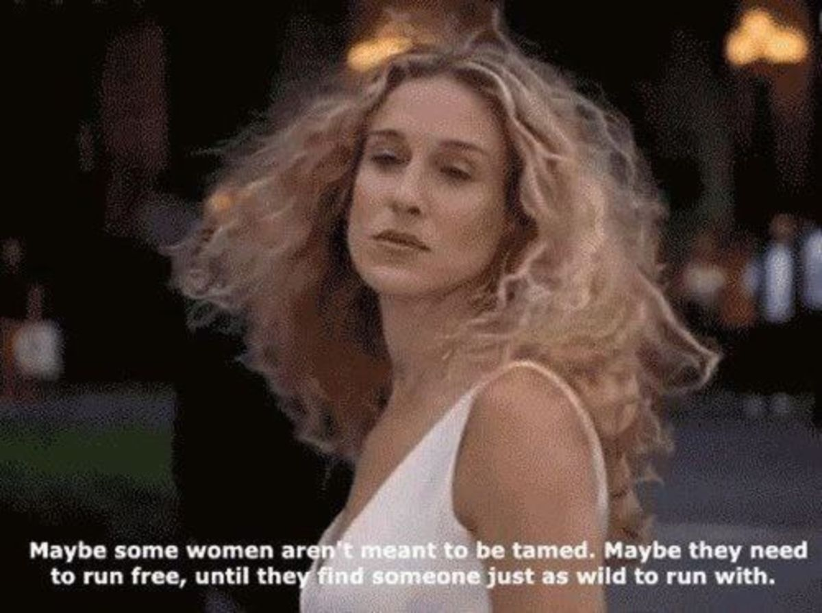 Another goddess, Carrie Bradshaw from Sex in the City.