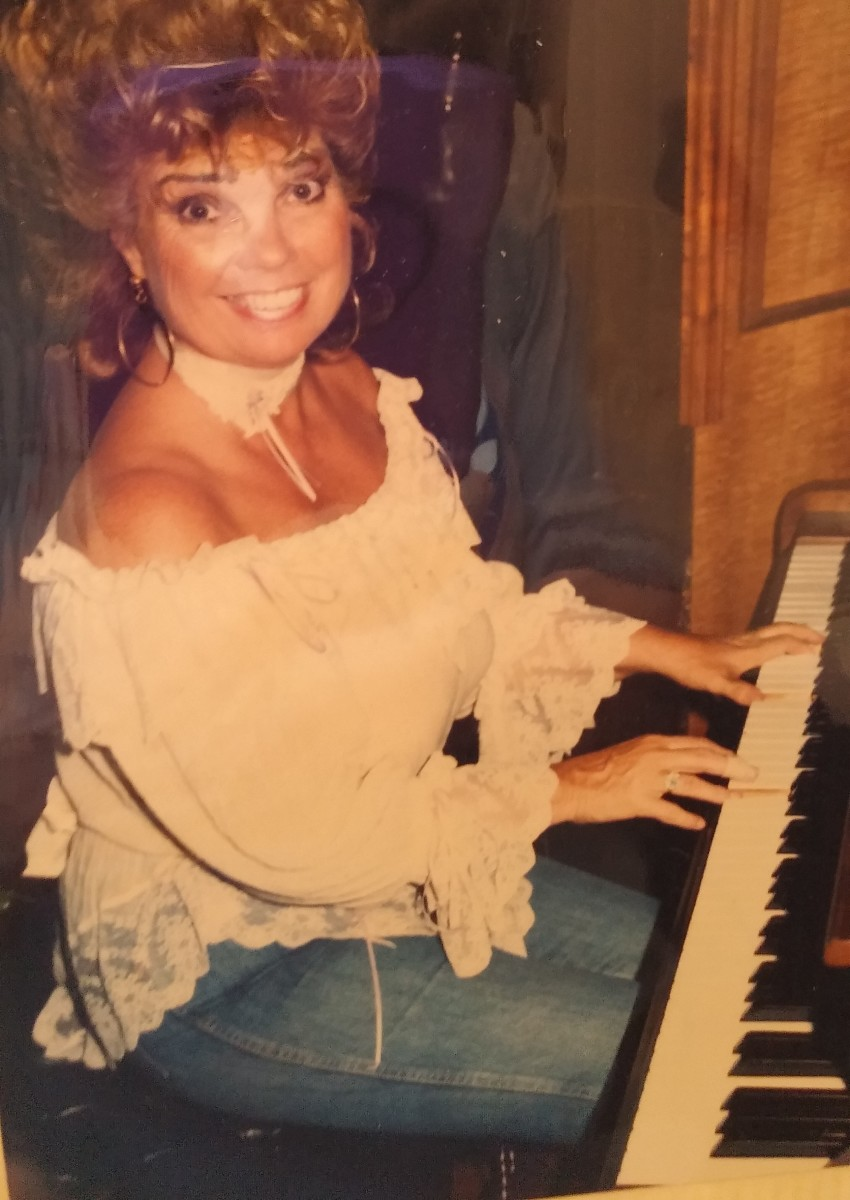Author performing in Hawaii in the 80's. The singer must be a master of both instruments...in this case one instrument is the piano and the other is the voice.