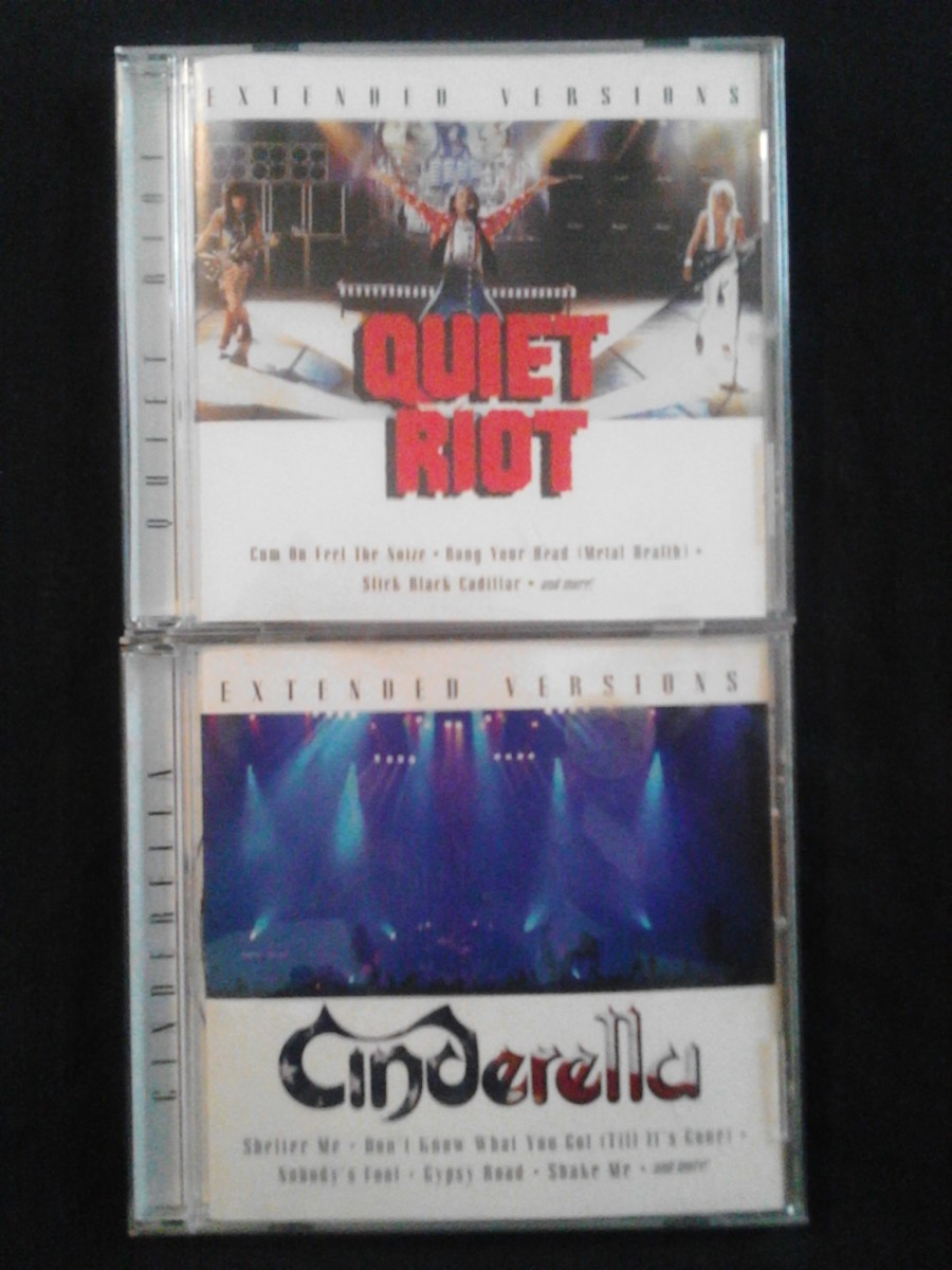Quiet Riot and Cinderella's volumes are both previously-unreleased material.