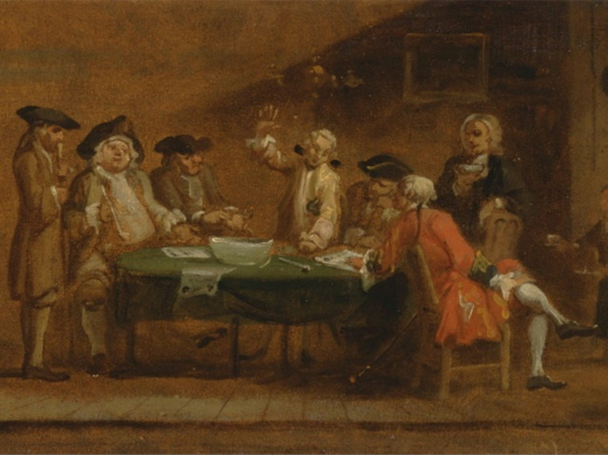 """Colonial Tavern - from Samuel Johnson's """"Selected Essays"""" (1750s)"""