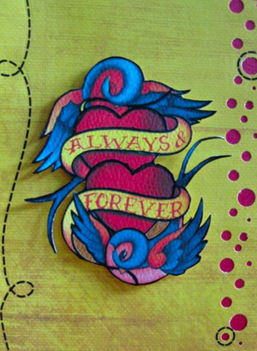 Anniversary tattoo design