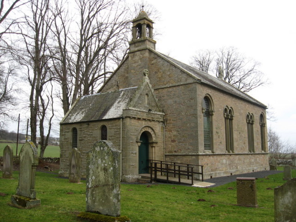 A traditional Scottish Kirk (church) where marriage banns were read out prior to a couple marrying.