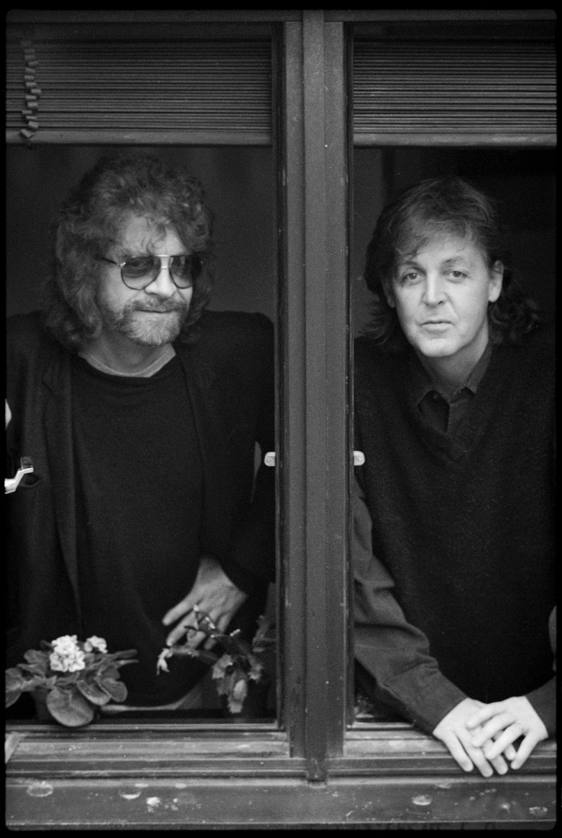 Jeff Lynne and Paul McCartney