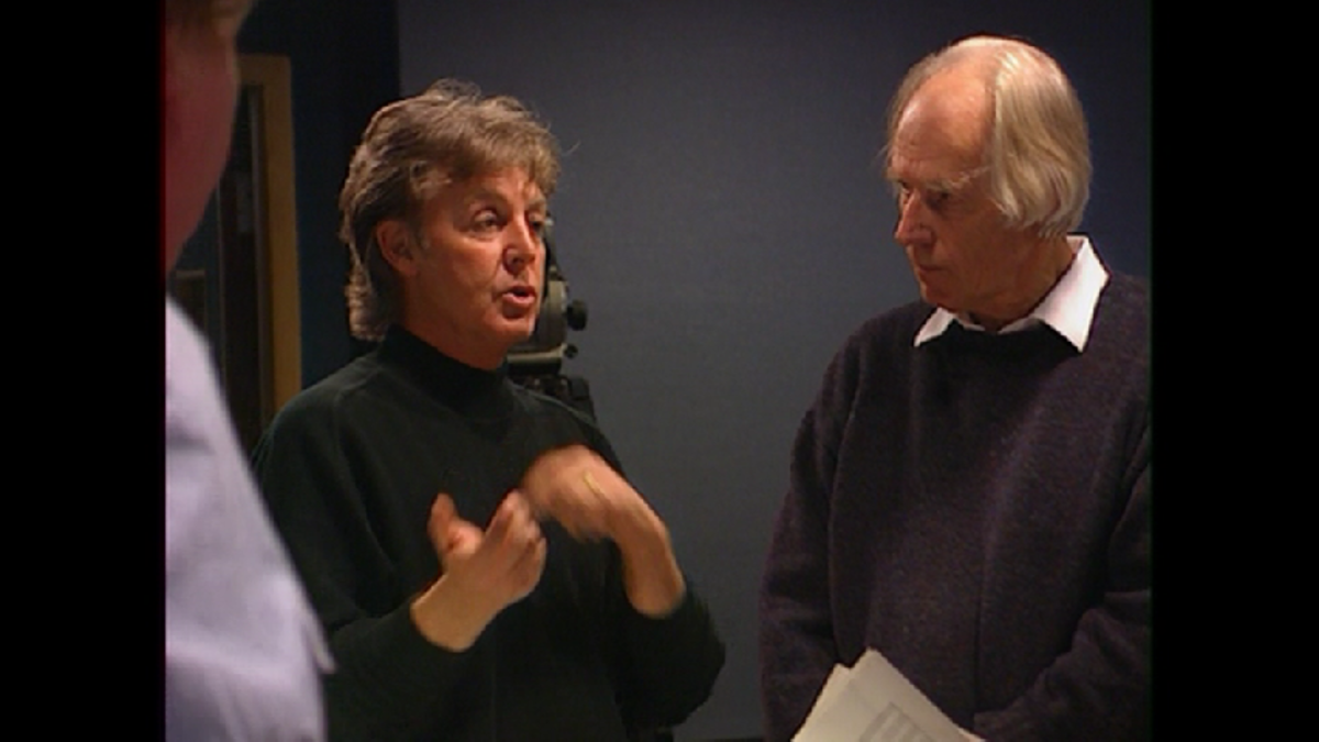 "Paul McCartney and George Martin from ""In the World Tonight"" documentary, 1997."