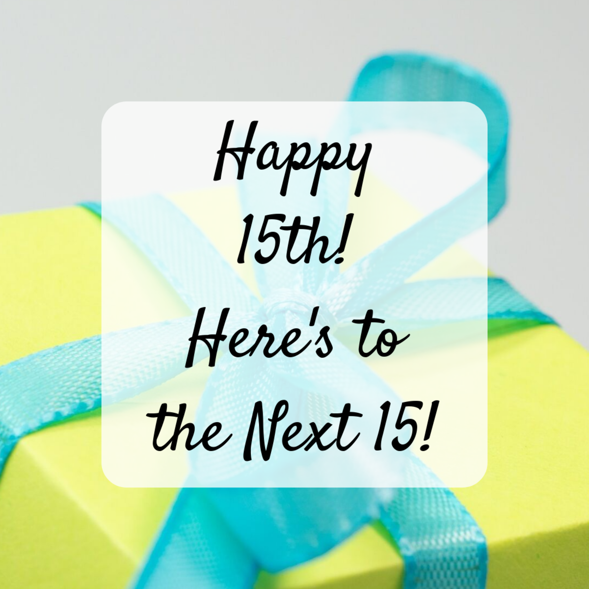 Send your best wishes for the many happy years to come!