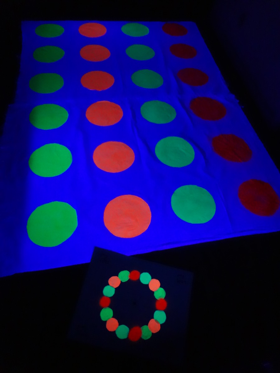 Make Your Own Glow In The Dark Twister Game Holidappy
