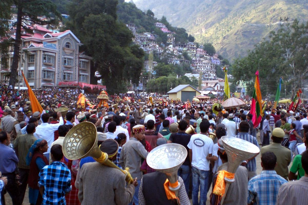 The main procession of Kullu Dussehra