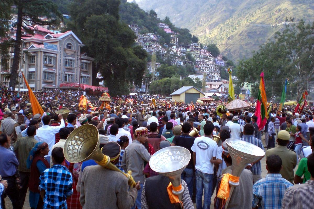 The main procession of Kullu Dussehra