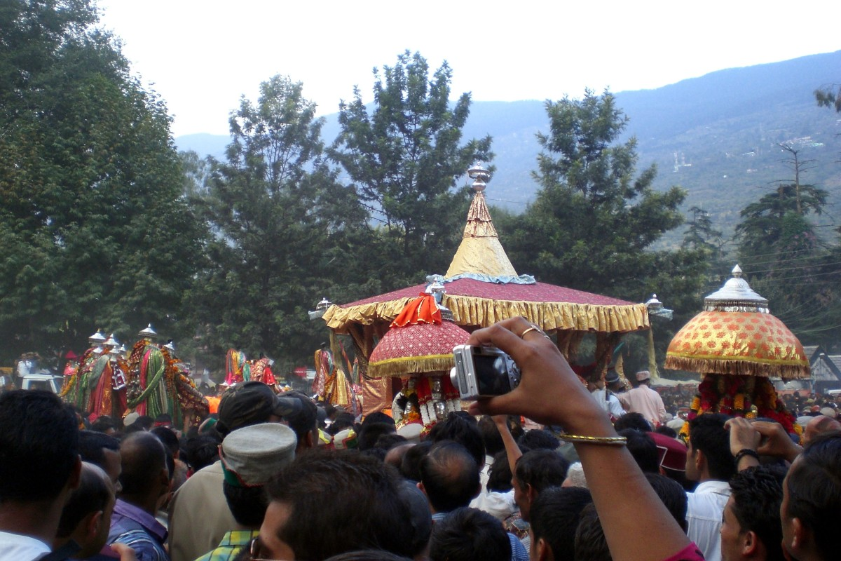Another view of Kullu Dussehra procession.