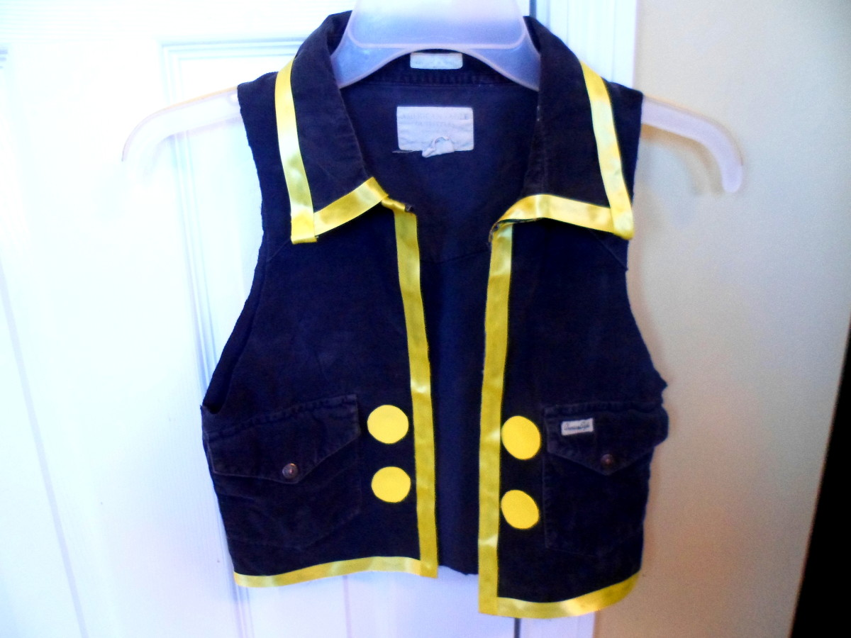 Our finished Jake the Pirate vest.