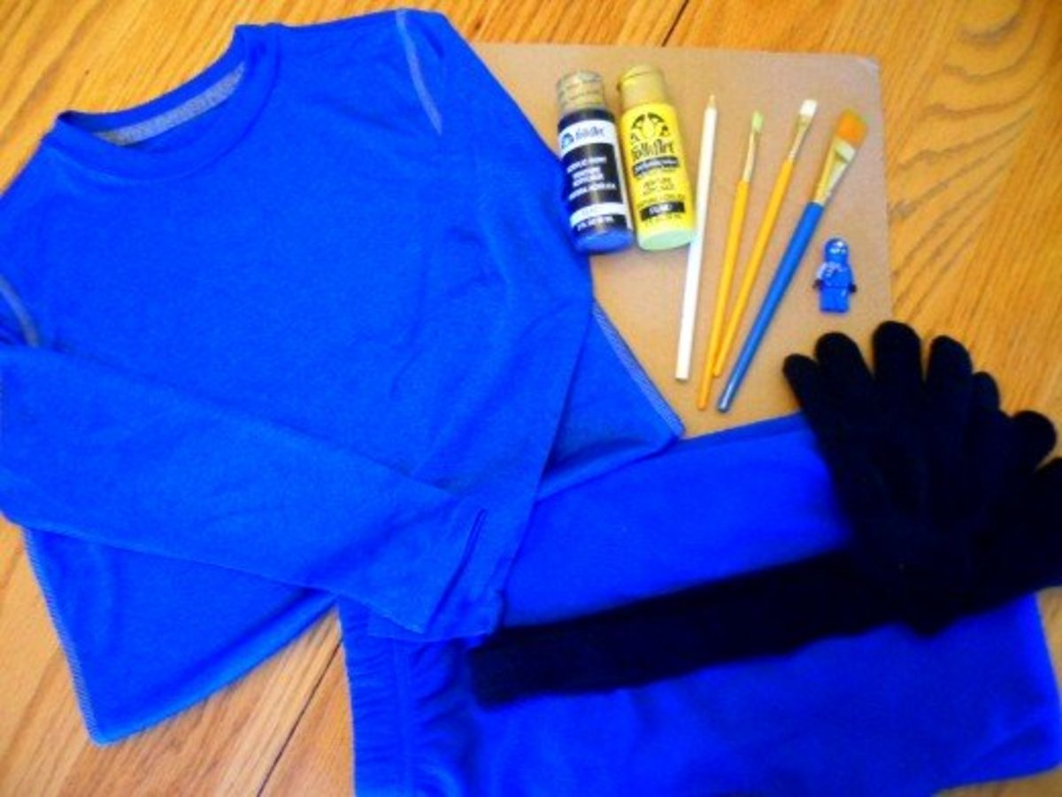 The supplies to make Jay's shirt.
