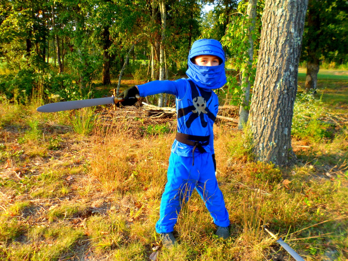 Watch out! This blue ninja is fast as lightning!