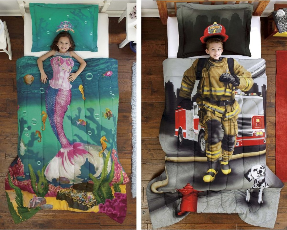 Unique bedding sets that will make kids go to bed early.