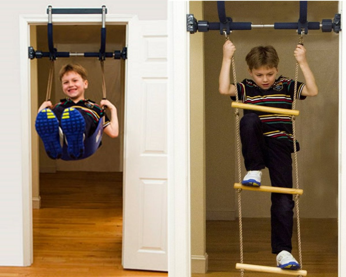 Home indoor gym - the perfect Christmas gift for kids that lets them play when the weather is cold.