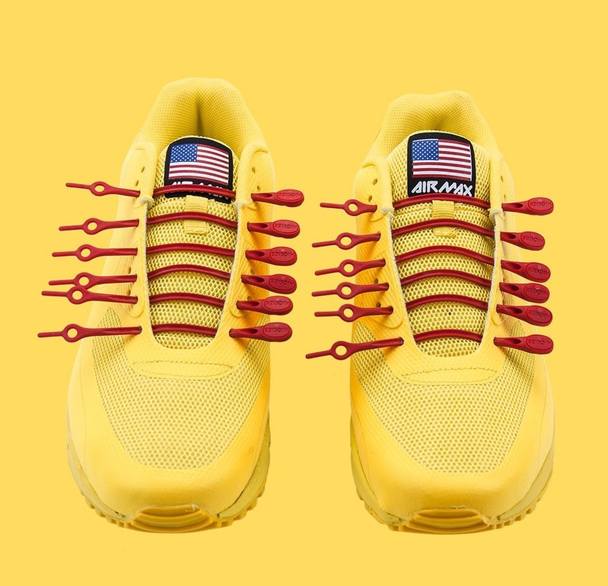 These nifty shoe laces turn sneakers into slip-ons.