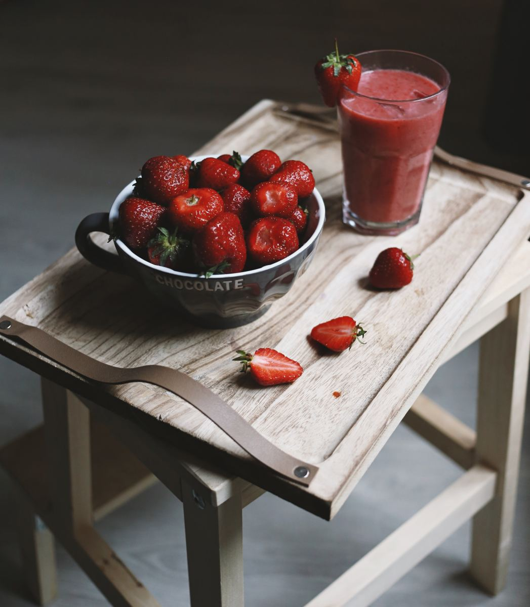 Strawberry Juice helps wet your throat so that your singing doesn't suffer.