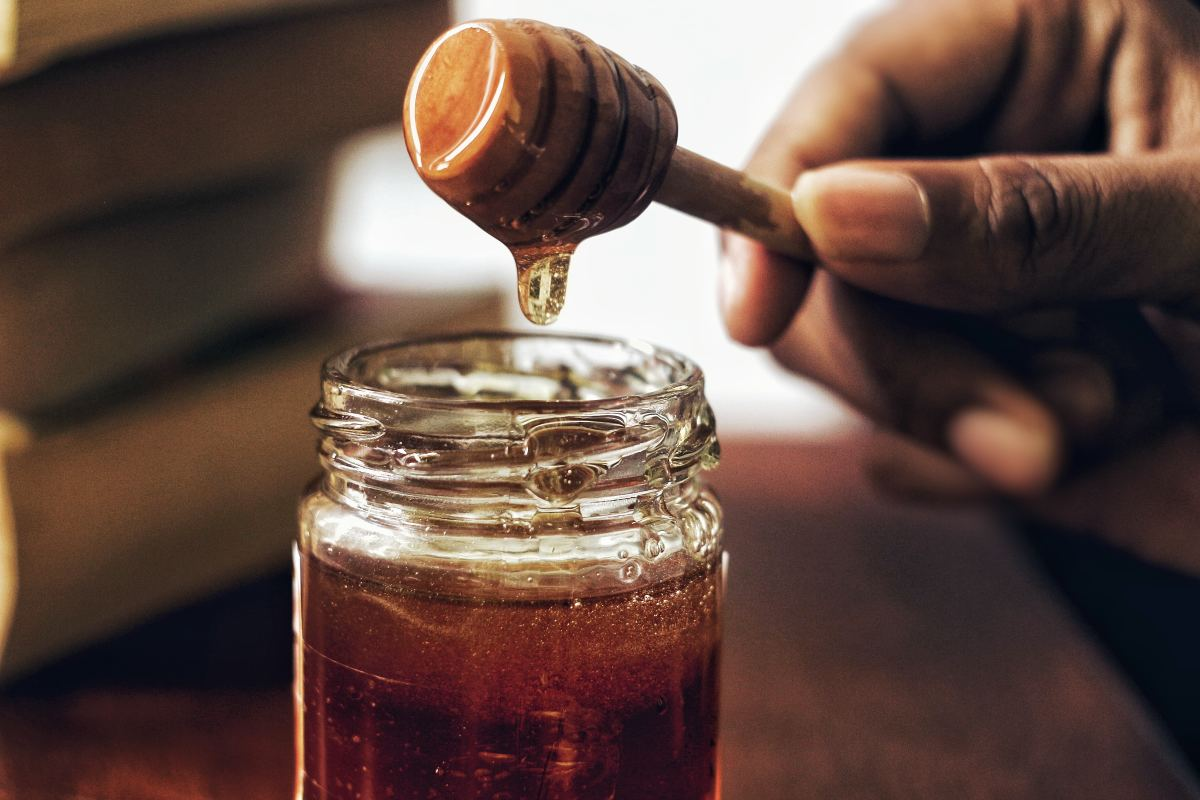 Honey instantly causes salivation, which aids in your signing.