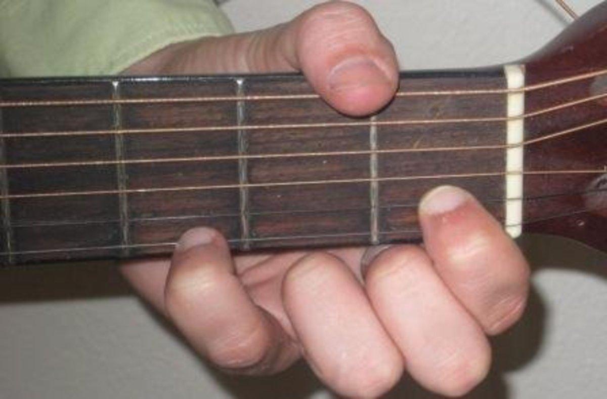 G4 guitar chord.